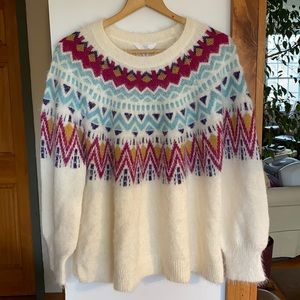 Soft, fuzzy Nordic-style sweater